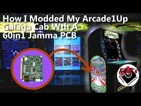 How I Modded My Arcade1Up Cab With a 60in1 Jamma PCB from KBR's Retro Game Room