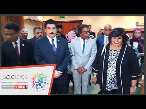 جولة تفقدية لإيناس عبد الدايم لقصر ثقافة القناطر الخيرية  - 23:53-2018 / 11 / 10