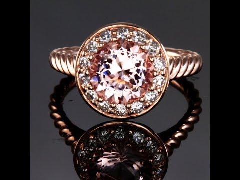 Morganite Ring in 14kt Rose Gold