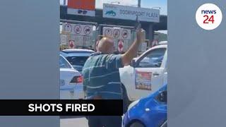 WATCH   Man filmed firing bullets in the air at toll plaza in Pretoria