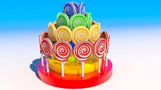 NEW Learning Colors with 3D Lollipops for Kids and Children