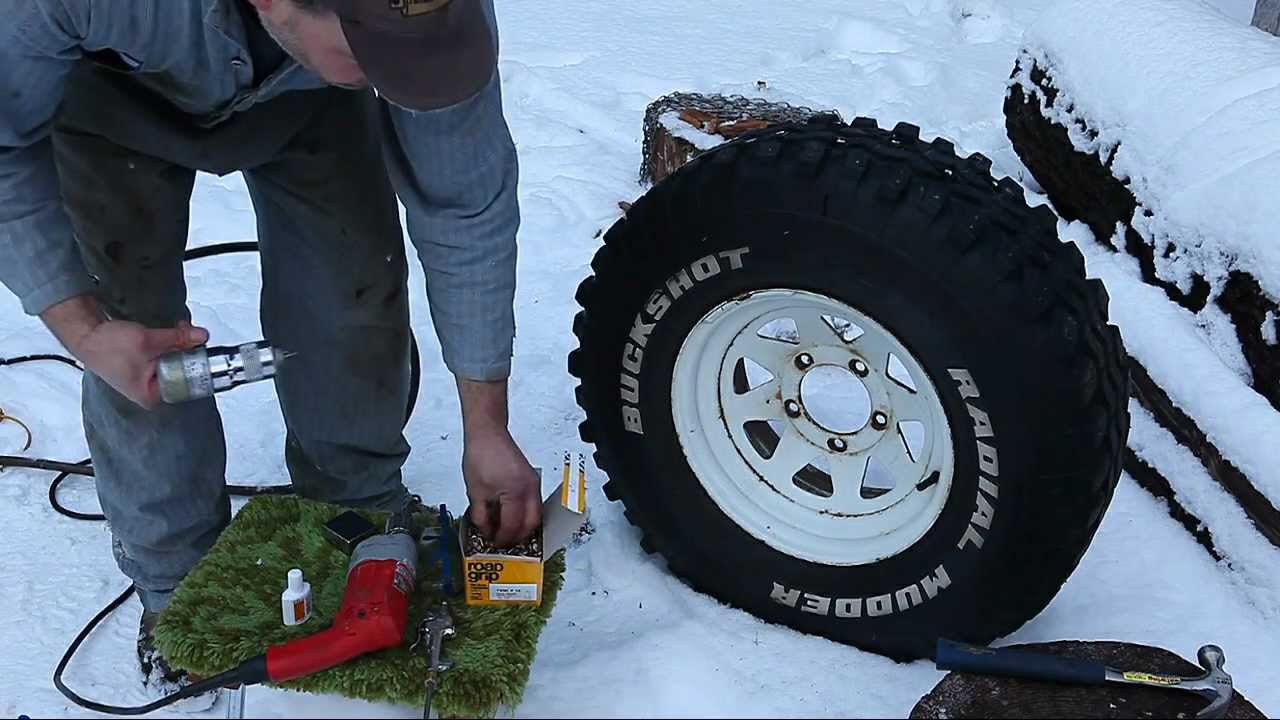 Studding Your Own Tires--Bad Idea? - YouTube