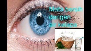 Mata bersih & terang dg air kelapa !!!