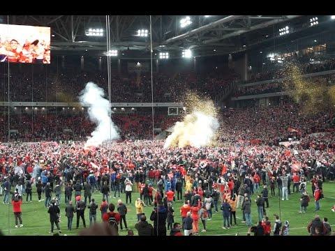 Спартак празднует чемпионство: тысячи фанатов на поле