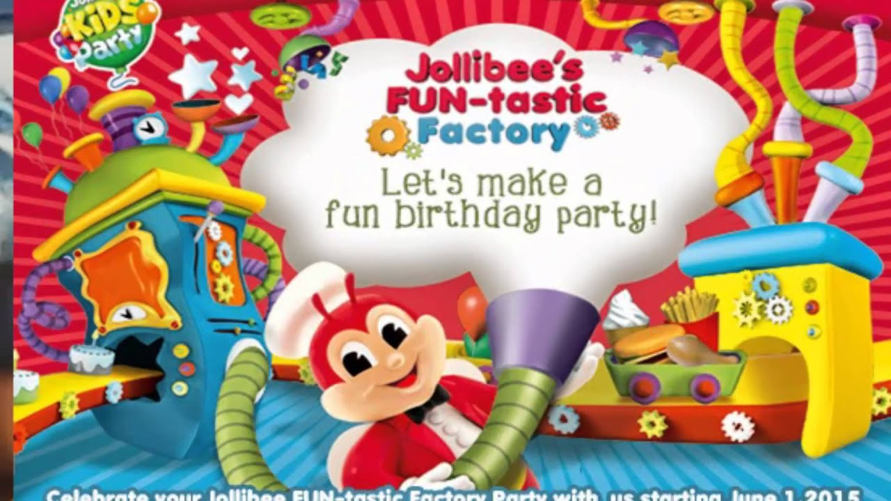 Jollibee kids party package youtube stopboris