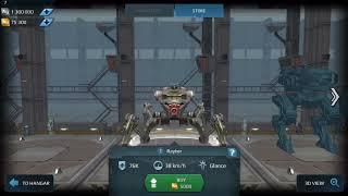 War robot test server 4.2.0 New robots INVADER,BLITZ RAYKER.