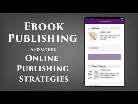 Ebook publishing and other online publishing strategies