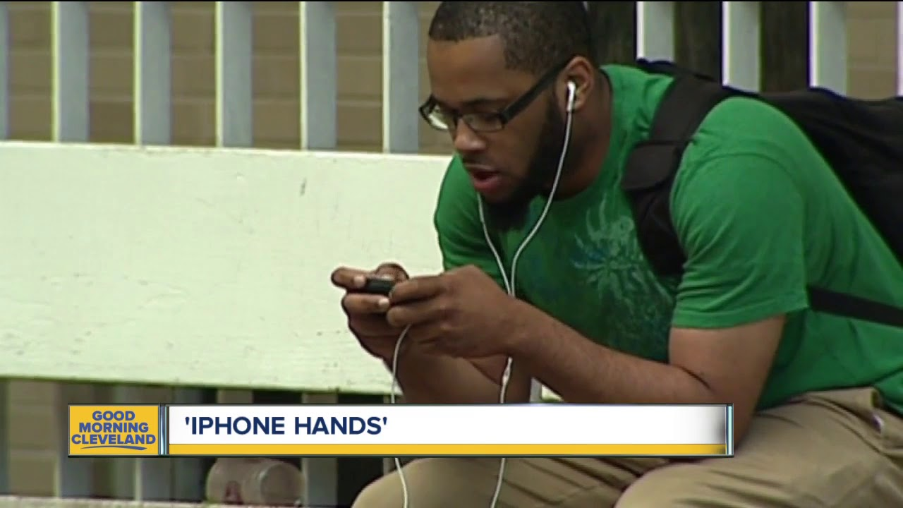 Tendonitis concern for cell phone users