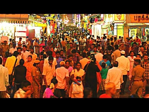 World's Most Crowded Place - Ranganathan Street in Chennai, India