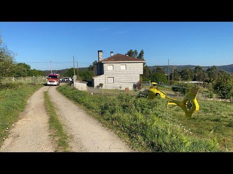 Evacuado en helicóptero tras caerse de la bicicleta en O Carballiño