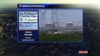 Koeberg fault costs power grid 900 megawatts