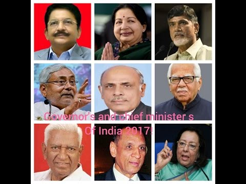 Governors and Chief Ministers of India 2017!