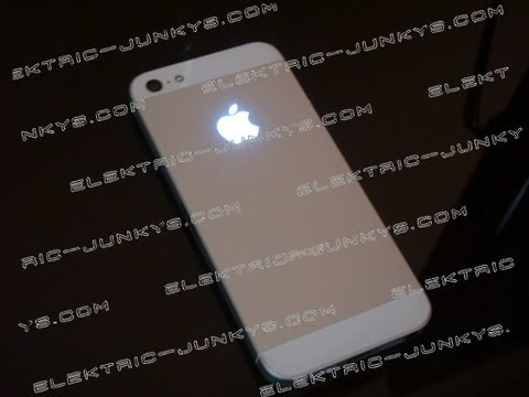 iPhone5/S Light Mod Glowing Apple Logo Housing glowing mod Directions How to replace rear case
