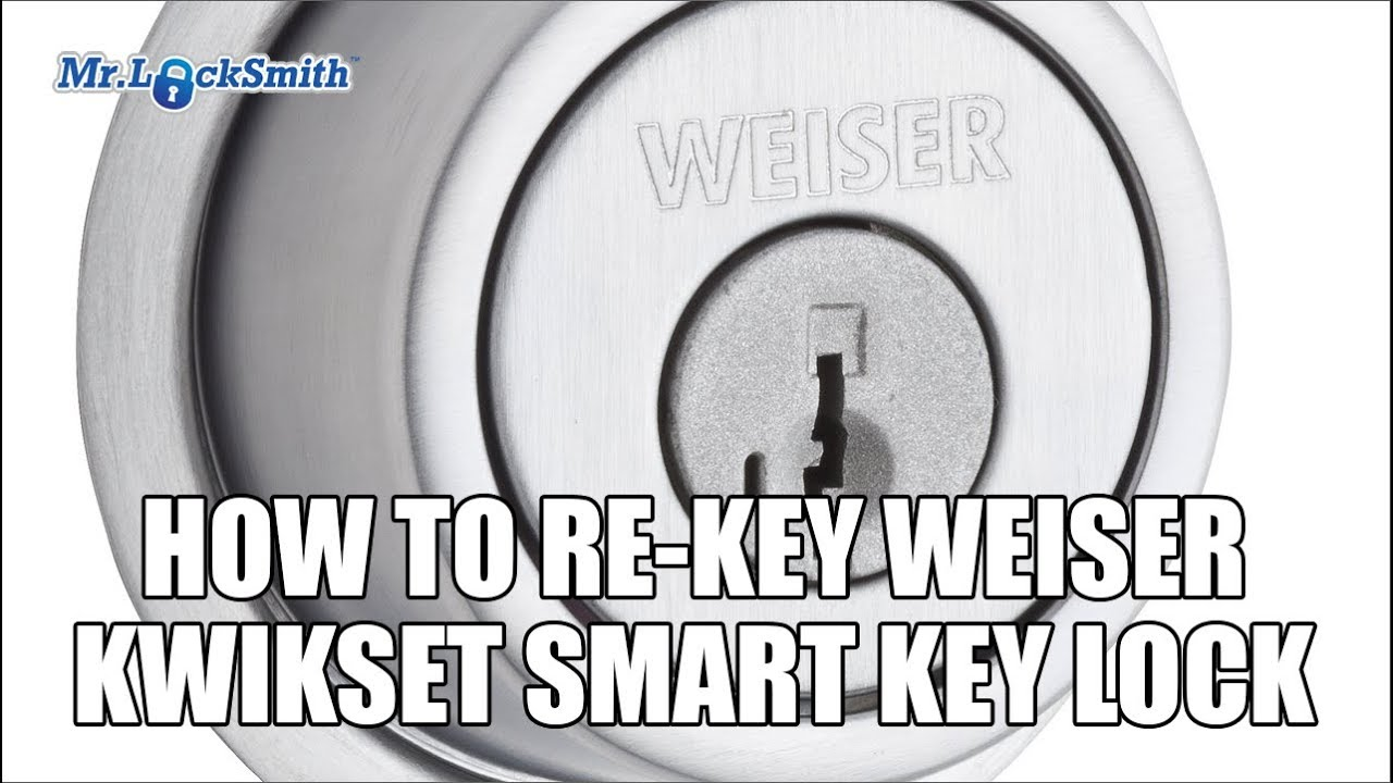 how to rekey weiser kwikset smart key lock mr locksmith video youtube. Black Bedroom Furniture Sets. Home Design Ideas