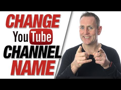 Change Youtube Channel Name   How To Change Your YouTube Name 2019