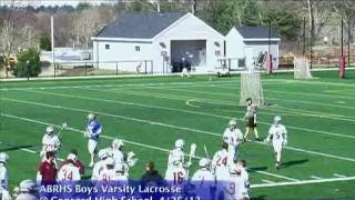 Acton Boxborough Varsity Boys Lacrosse vs Concord 4/25/13
