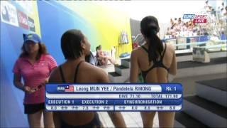Leong Mun Yee / Pandelela Rinong (Fina 2011 10M Sync Female Final) thumbnail
