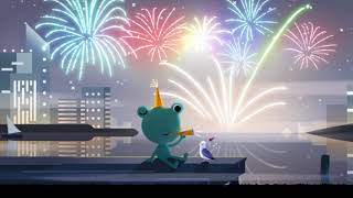 New Year's Eve 2019 Google Doodle