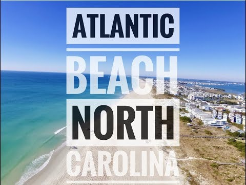Aerial view of Atlantic Beach, North Carolina