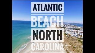 Aerial view of Atlantic Beach, North Carolina