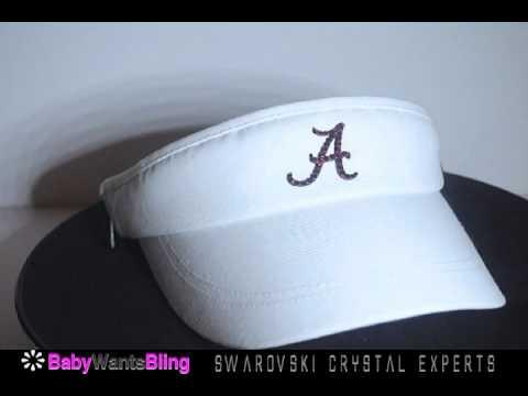 Alabama Crimson Tide Swarovski Crystal Bling Rhinestone Nike Hat Visor d90b8f4385b0