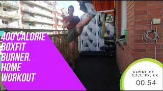 400 calorie burner home Boxfit workout #boxfit