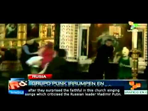 Punk rock group arrested in Russia