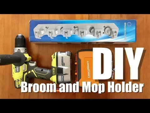DIY - BROOM AND MOP HOLDER