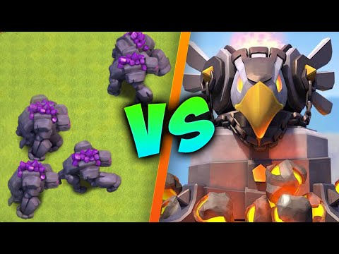 Clash of Clans - Eagle Artillery VS MAX Golems!!