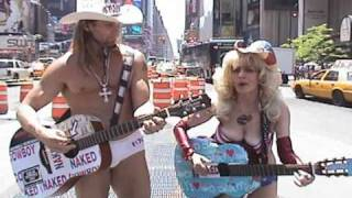Naked Cowboy & Naked Cowgirl, Times Square