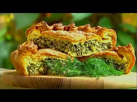 Пирог с сыром и творогом -