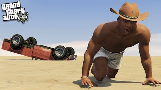 FRANKLIN gets LOST in the DESERT (GTA 5 Mods)