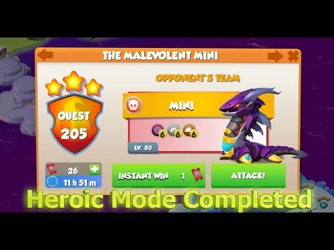 Heroic Mode Completed - Dragon Mania Legends
