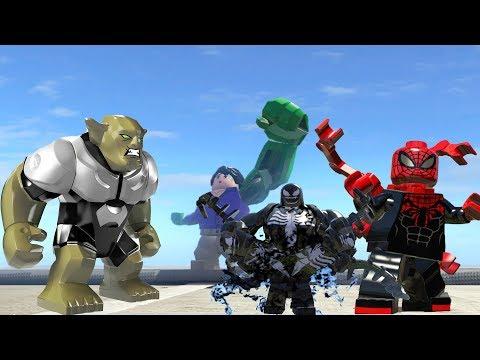 LEGO Hulk(Transformation) Vs Green Goblin/ Venom (Transformation) Vs Superior Spider man