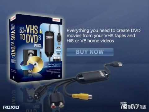 roxio vhs dvd  New Roxio Easy VHS to DVD 3 Plus - YouTube