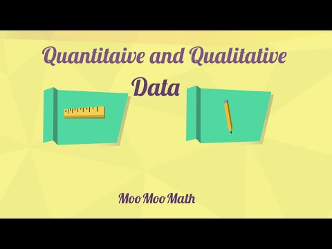 Qualitative vs quantitative.