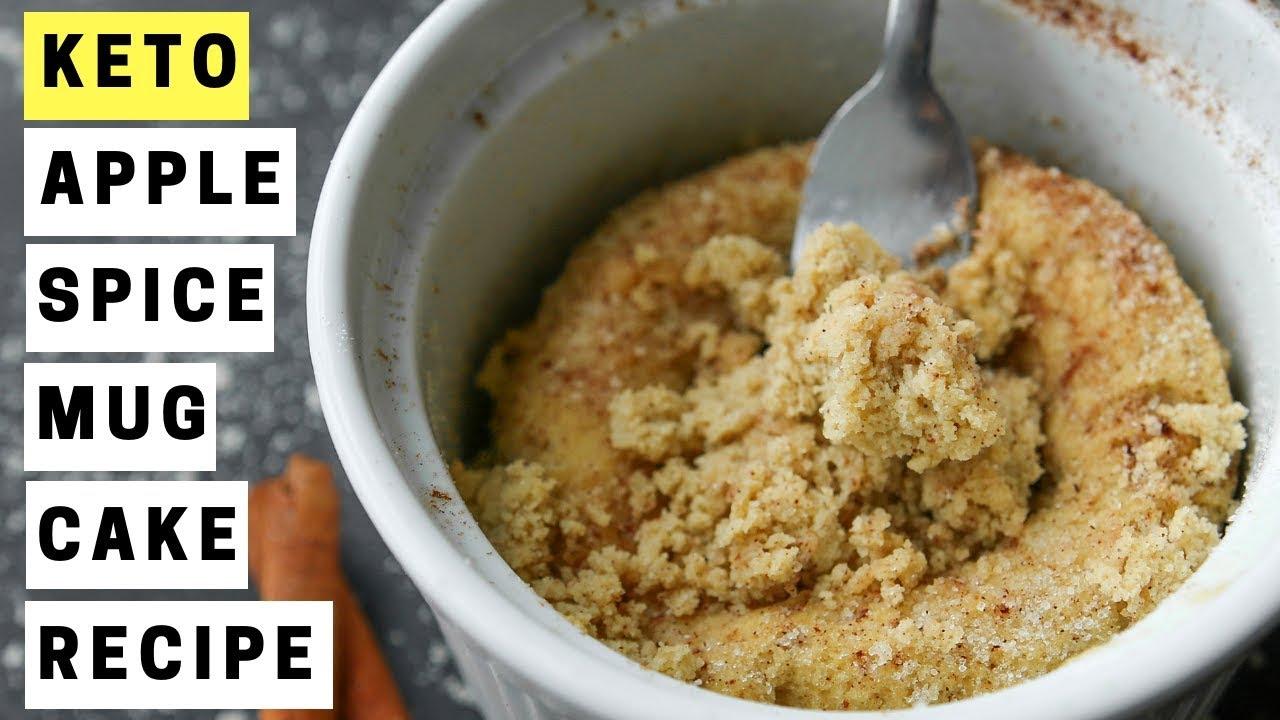 KETO Apple Spice Microwave Mug Cake   Easy Low Carb Keto ...