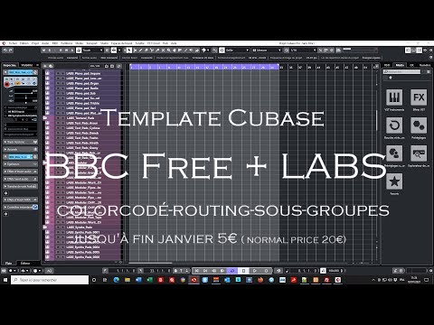 Cubase template bbc Discover + LABS
