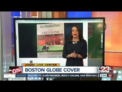 Boston Globe prints papers saying the Patriots lost