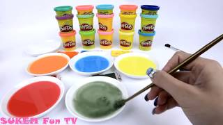 Glitter Play Doh Disney Princesses Learn Colors Number Learning Creative for Kids