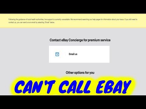 No Ebay Customer Service Calls (Temporary Stoppage)