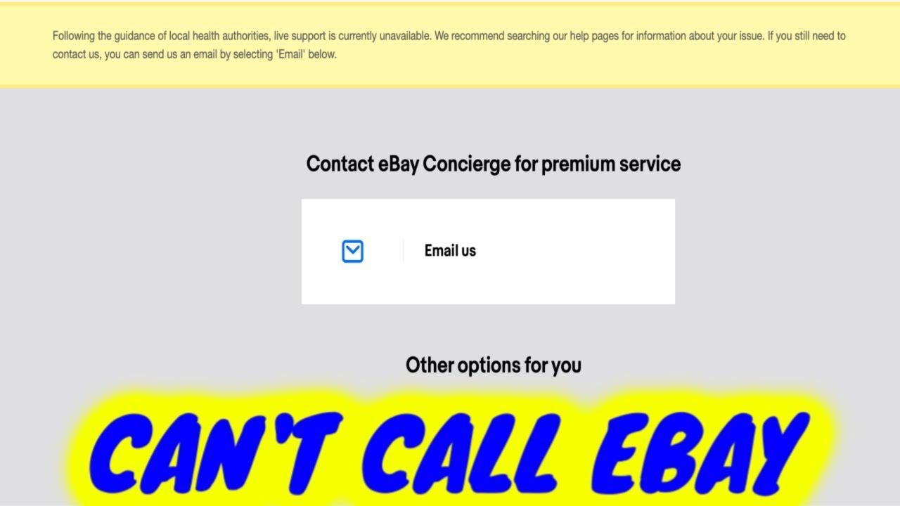 No Ebay Customer Service Calls Temporary Stoppage Youtube
