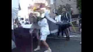 平成25年土浦八坂神社・祇園祭『立田町大獅子頭の舞(子供獅子頭の舞)』