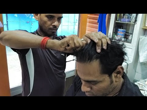 Amazing hair cracking head massage( Must Watch)