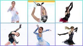 Чемпионат России по фигурному катанию 2021 The Russian Figure Skating Championships TOP 6 Женщины