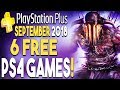 PS+ SEPTEMBER 2018 - 6 FREE PS4 GAMES! (PlayStation Plus September 2018)