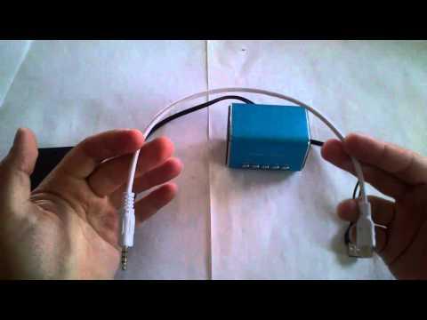Cable Mini usb a jack 3,5 audio / Mini USB a 3.5mm  Audio Cable - blanco