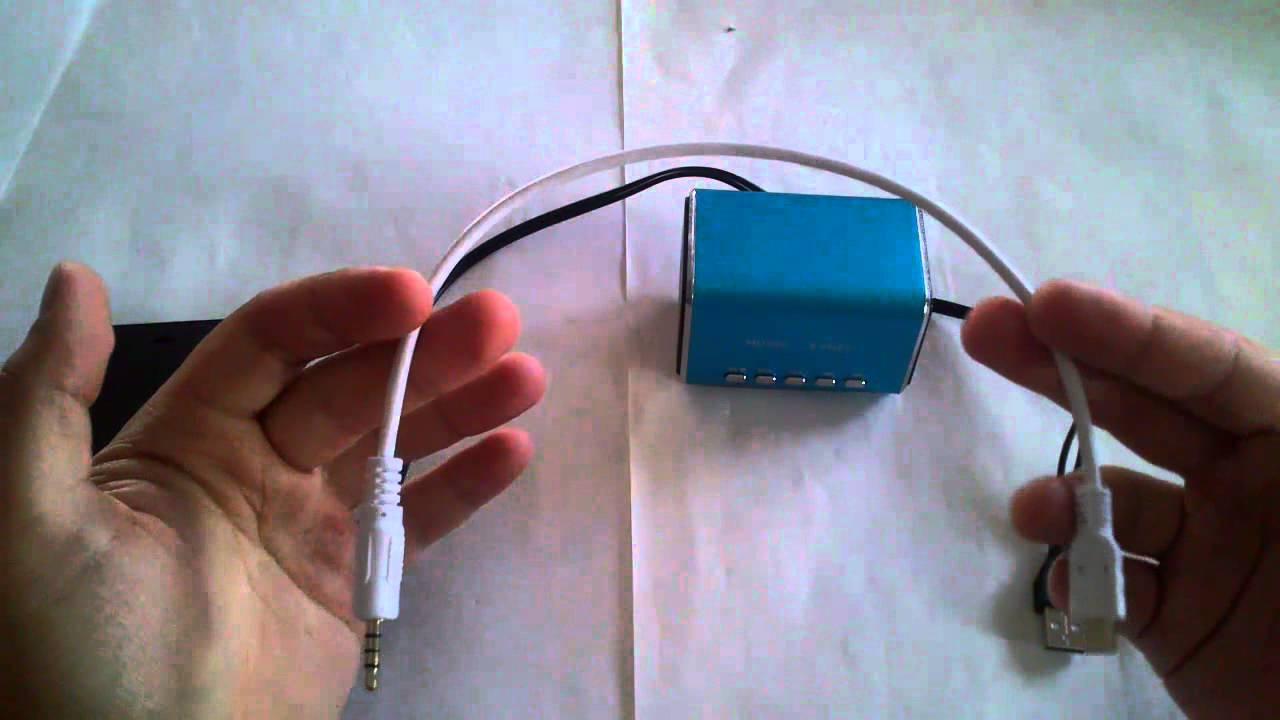 Cable Mini usb a jack 3,5 audio  Mini USB a 35mm Audio Cable  blanco  YouTube