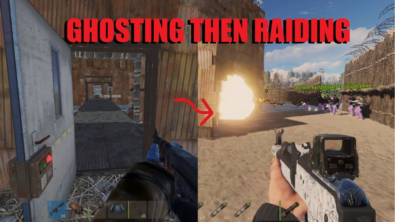 Download GHOSTING then RAIDING the BIGGEST BASE ON THE SERVER! // Zerg Wipe Progession // RUST