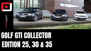 BATTLE DE GOLF GTI COLLECTOR!!⎜GOLF GTI 25th vs 30th vs 35th⎜